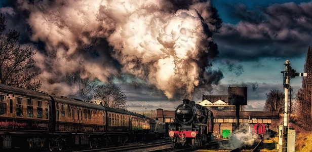 Steaming out of Great Central Station
